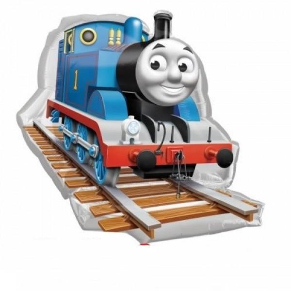 Mini Folienballon Lokomotive Thomas die Eisenbahn 35cm