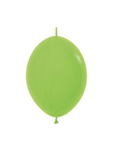 "Link o Loon 031 Fashion Lime Green (Hellgrün) 15cm 6"" Latex Luftballons Sempertex"