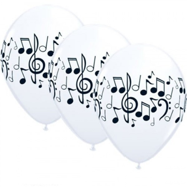 Musik Noten Latex Luftballon - 27,5cm