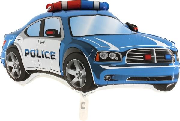 Polizei Auto Police Blau Folienballon - 71 x 38cm