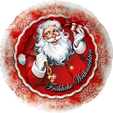 Weihnachtsmann mit Geschenk Folienballon - 45cm