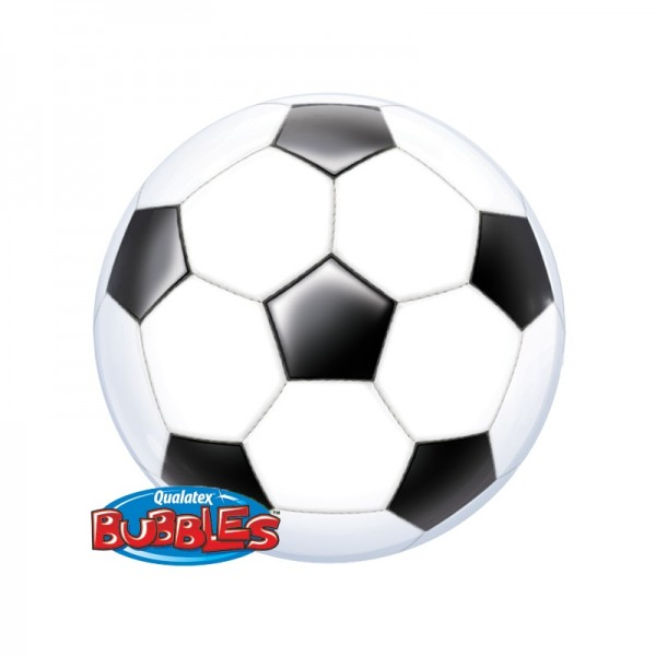 Qualatex Bubble Luftballons Fussball - 55cm