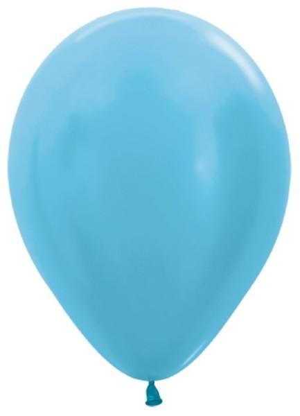 """Sempertex 438 Satin Pearl Caribbean Blue (Blau) 30cm 12"""" Latex Luftballons"""