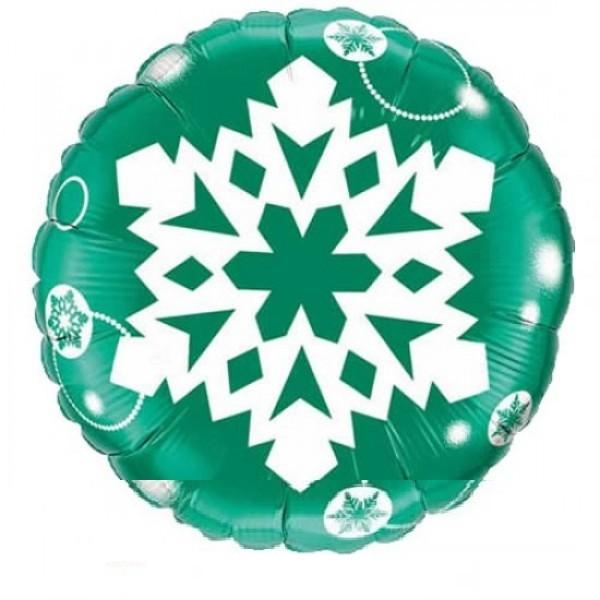 Schneeflocke grün Folienballon - 45cm