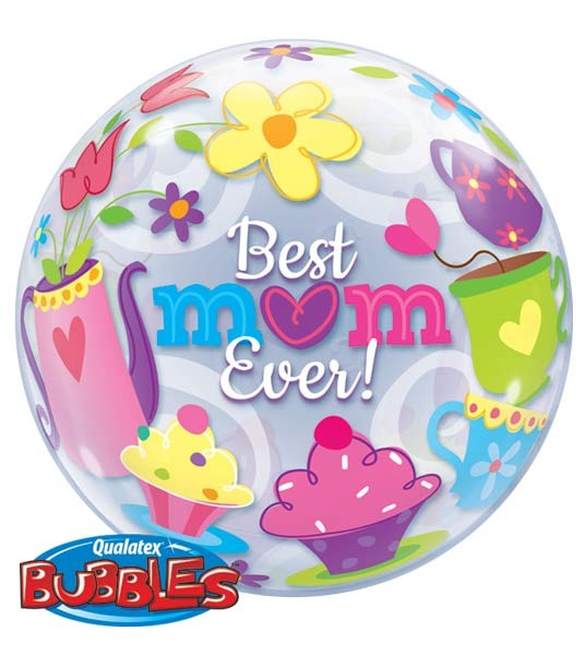 Qualatex Bubbles Luftballons 'Best Mom ever' Muttertag