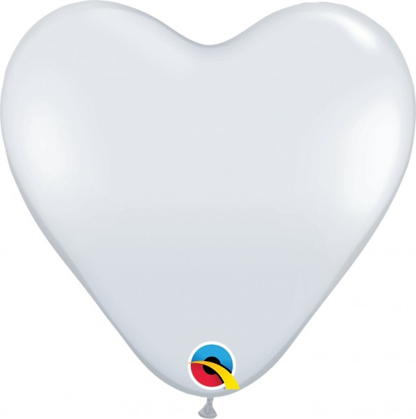BallonHerz Jewel Diamond Clear Latexluftballons - 37,5cm