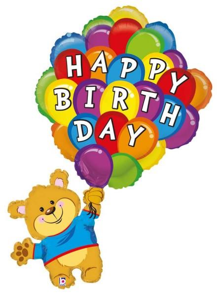 Birthday Ballonbär Folienballon - 107cm