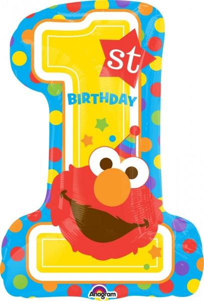 "1 st Birthday Elmo Sesamstraße Folienballon - 71cm 28"""