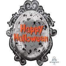 Gruseliger Spiegel Happy Halloween Folienballon - 78cm