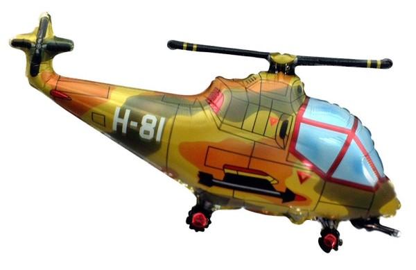 Helikopter Militär Hubschrauber camouflage Folienballon - 96 x 57cm