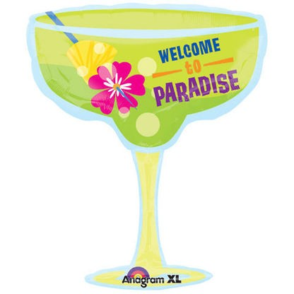 Cocktailglas Paradise Folienballon - 71cm