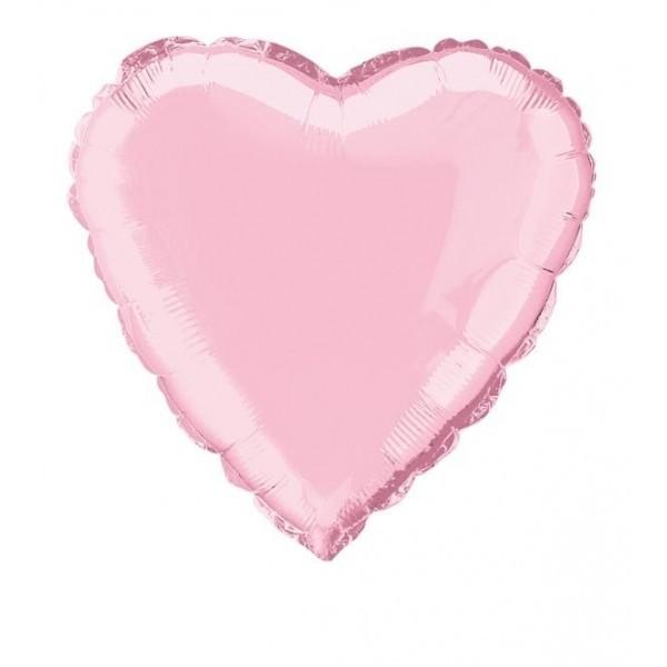 Mini Folienballon Herz rosa - 10cm