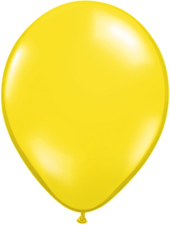 Latex Luftballons Jewel Citrine Yellow (Citrusgelb) 10St. - 27,5 cm