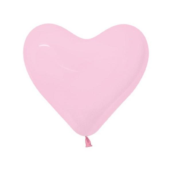 """Sempertex Herz 009 Fashion Bubblegum Pink 30cm 12"""" Latex Luftballons"""