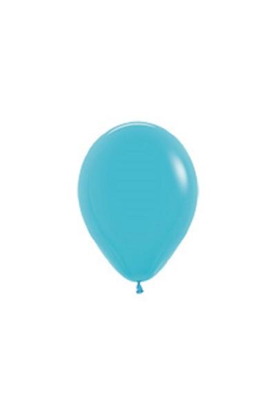 """Sempertex 038 Fashion Caribbean Blue (Blau) 12,5cm 5"""" Latex Luftballons"""