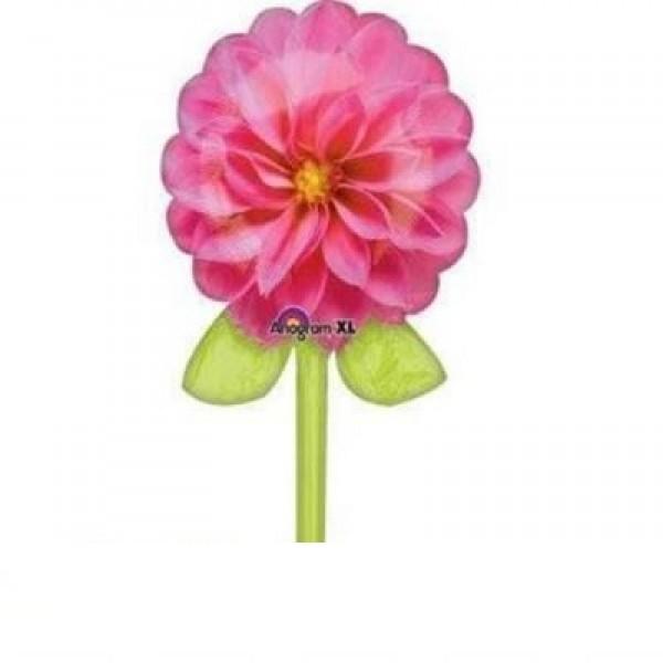 rosa Blume mit Stil Folienballon - 99cm