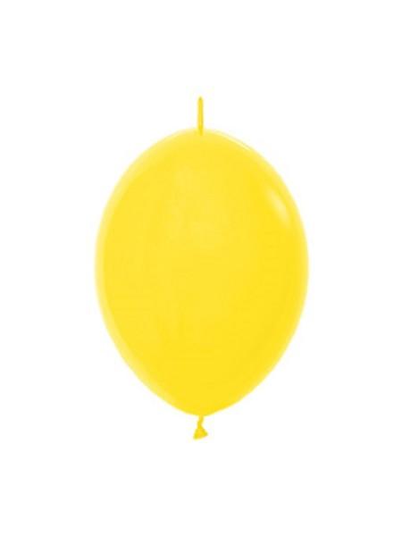 "Link o Loon 020 Fashion Yellow (Gelb) 15cm 6"" Latex Luftballons Sempertex"