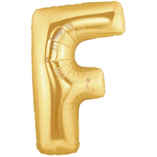 Buchstaben F gold Folienballon - 101cm 39''