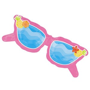Pinke Sonnenbrille Spaß am Strand Party Folienballon - 94cm
