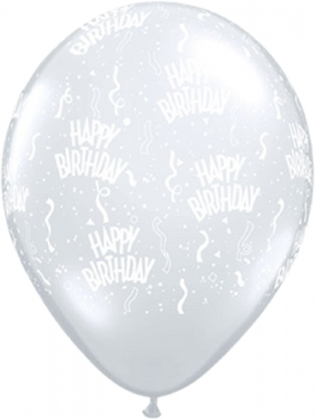 "Happy Birthday 12,5cm 5"" Latex Luftballon Qualatex"