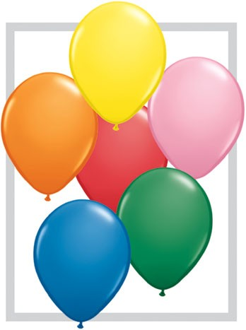 Latex Luftballons Assortment Standard (bunt gemischt) 100St. - 27,5 cm