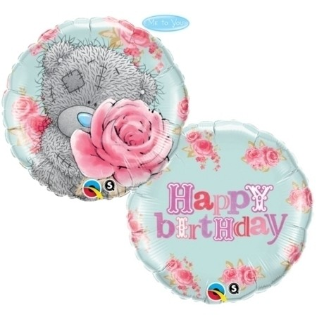 Me To You Tatty Baby Bear mit Rose Folienballon - 45cm