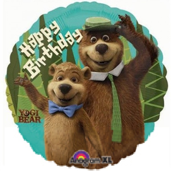 Yogi Bar Happy Birthday Folienballon 45cm Luftballon Shop