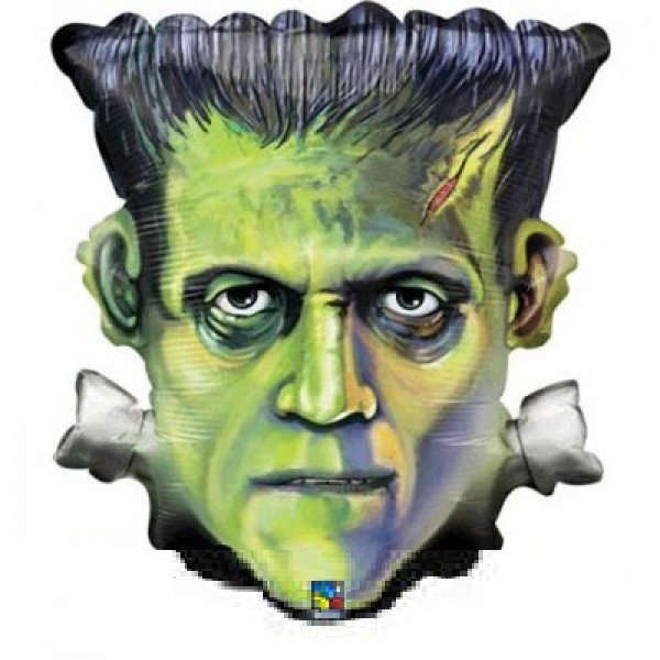 Frankenstein Kopf Halloween Folienballon.- 64cm