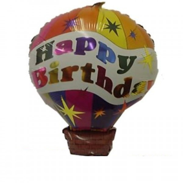 Happy Birthday Heissluftballon Folienballon - 73cm