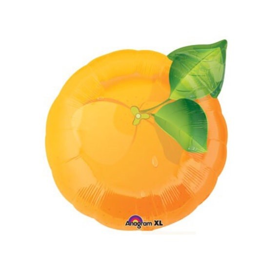 Orange Folienballon