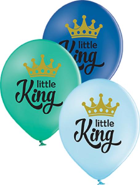"""Little King Pastel Sortiment 30cm 12"""" Latex Luftballons Belbal"""