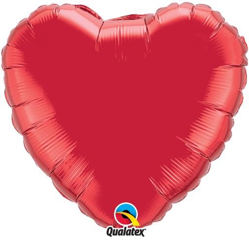 Qualatex Folienballon Herz Rot (Ruby Red) - 45cm