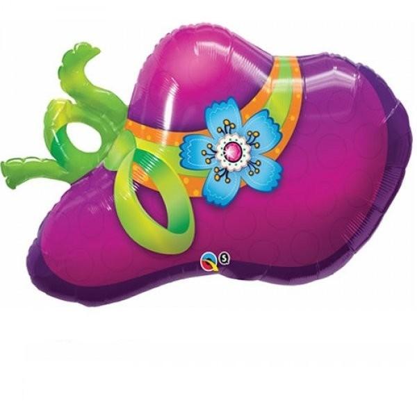 Damenhut Folienballon - 96cm