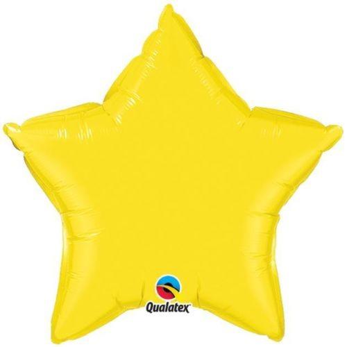 Stern gelb Folienballon - 50cm - Qualatex