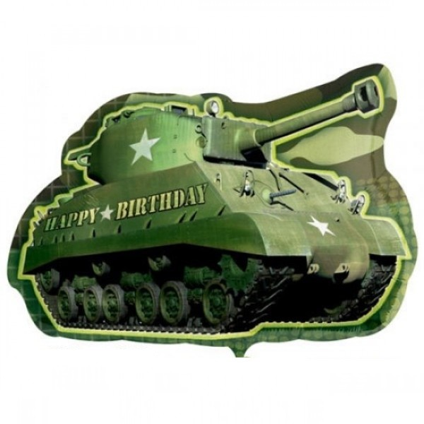 Bundeswehr Panzer Happy Birthday Folienballon - 65cm