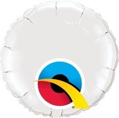 Mini Folienballon rund weiß - 10cm