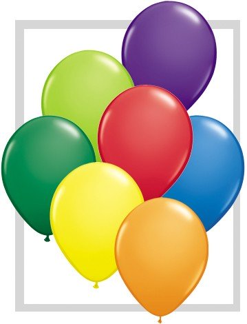 Latex Luftballons Assortment Carnival (bunt gemischt) 100St.