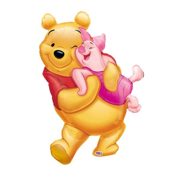 Winnie the Pooh mit Ferkel Folienballon - 74cm