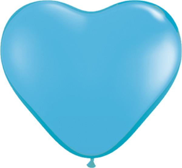 "Qualatex Herz Standard Pale Blue (Blau) 15cm 6"" Latex Luftballons"