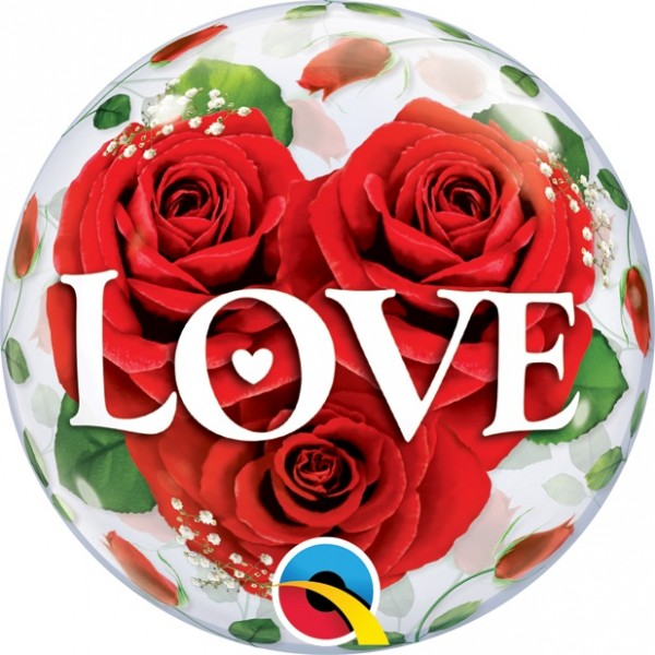 "Qualatex Bubble Love Roses 10 Stück 12"" 30cm Luftballon"