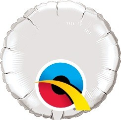 Mini Folienballon rund silber - 10cm