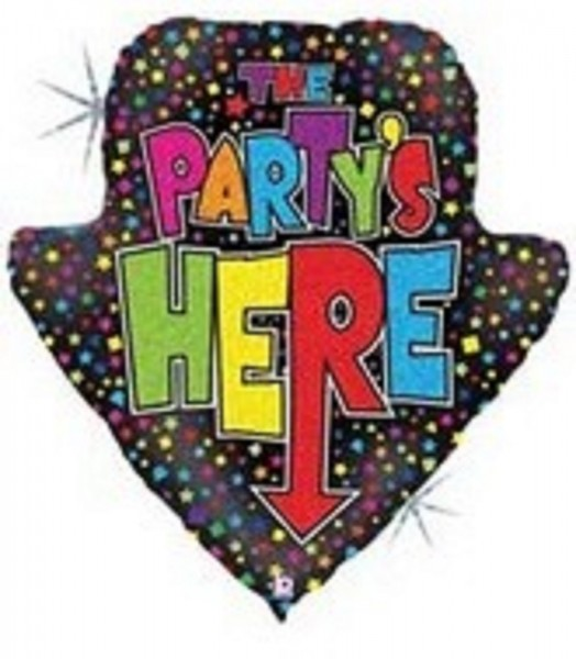 Partypfeil - Party Folienballon Hinweisschild - 76cm