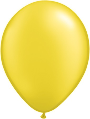 "Qualatex Pearl Citrine Yellow Zitronengelb 27,5cm 11"" Latex Luftballons"