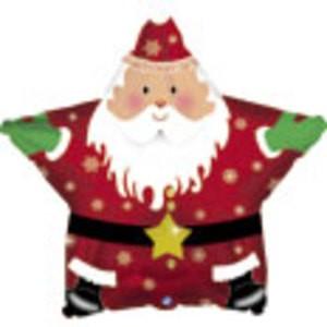 Nikolaus/ Weihnachtsmann Stern Folienballon