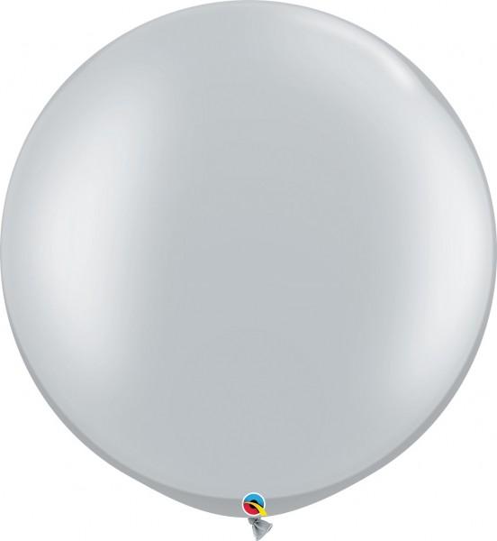"""Qualatex Silver Silber 75cm 30"""" Riesen Latex Luftballon"""