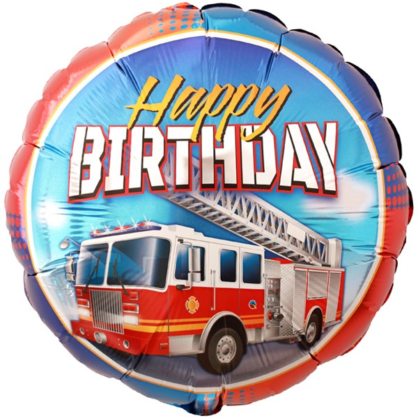 Feuerwehr Happy Birthday Folienballon - 46cm