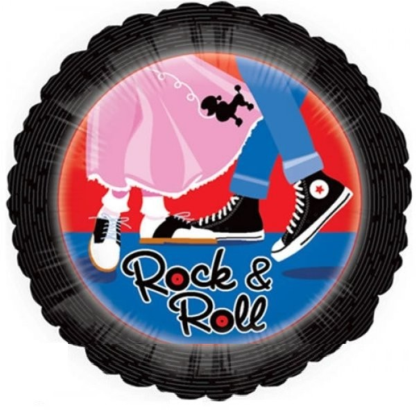 Rock & Roll Rockabilly Folienballon - 45cm