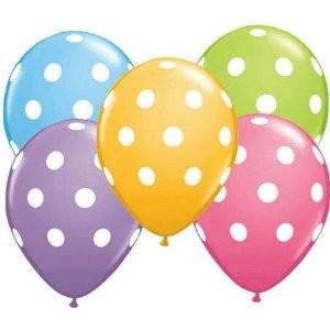 Polka Dots Luftballons Latex Ballons - 27,5cm
