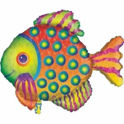 Folienballon tropischer Fisch