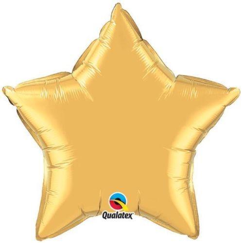 Stern gold metallic Folienballon - 50cm - Qualatex
